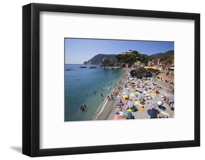 The Free Beach in the Old Town at Monterosso Al Mare-Mark Sunderland-Framed Photographic Print