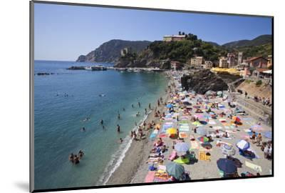 The Free Beach in the Old Town at Monterosso Al Mare-Mark Sunderland-Mounted Photographic Print