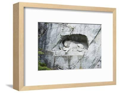 Lion Monument by Lucas Ahorn for Swiss Soldiers Who Died in the French Revolution-Christian Kober-Framed Photographic Print