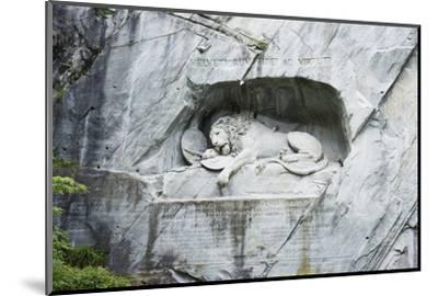 Lion Monument by Lucas Ahorn for Swiss Soldiers Who Died in the French Revolution-Christian Kober-Mounted Photographic Print