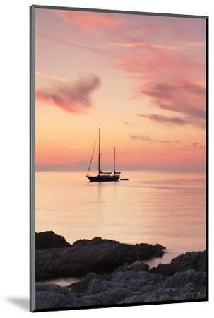 Sunset at the Coast Near Centuri Port, Corsica, France, Mediterranean, Europe-Markus Lange-Mounted Photographic Print