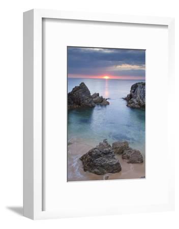 Quiberon Peninsula, Cote Sauvage, Cote De Morbihan, Brittany, France, Europe-Markus Lange-Framed Photographic Print
