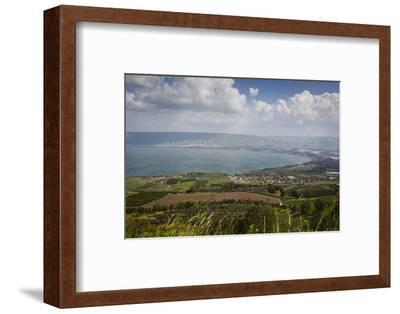 View over the Sea of Galilee (Lake Tiberias), Israel. Middle East-Yadid Levy-Framed Photographic Print