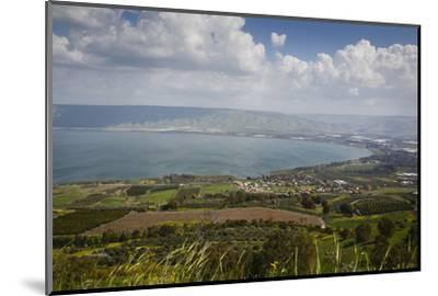 View over the Sea of Galilee (Lake Tiberias), Israel. Middle East-Yadid Levy-Mounted Photographic Print