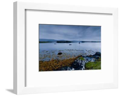 Strange Twilight Seascape of Loch Dunvegan on the Isle of Skye-Charles Bowman-Framed Photographic Print