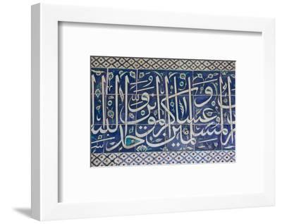 Decorative Tiles in Topkapi Palace, Istanbul, Turkey, Western Asia-Martin Child-Framed Photographic Print
