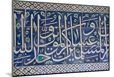 Decorative Tiles in Topkapi Palace, Istanbul, Turkey, Western Asia-Martin Child-Mounted Photographic Print