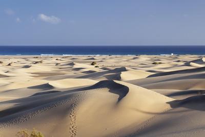 Panorama of the Sand Dunes of Maspalomas-Markus Lange-Framed Photographic Print
