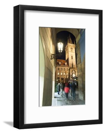 Gothic Old Town Hall at Twilight-Richard Nebesky-Framed Photographic Print
