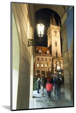 Gothic Old Town Hall at Twilight-Richard Nebesky-Mounted Photographic Print