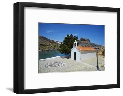 St. Paul Beach, Lindos, Rhodes, Dodecanese, Greek Islands, Greece, Europe-Tuul-Framed Photographic Print