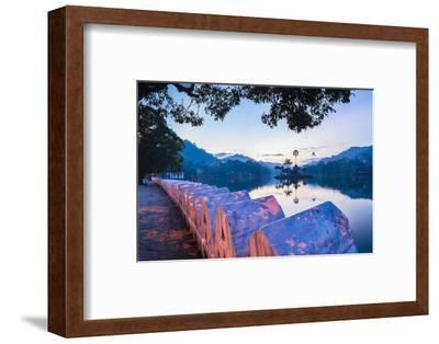Kandy Lake and the Clouds Wall (Walakulu Wall) at Sunrise-Matthew Williams-Ellis-Framed Photographic Print
