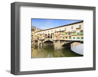 Ponte Vecchio, Florence, UNESCO World Heritage Site, Tuscany, Italy, Europe-Markus Lange-Framed Photographic Print