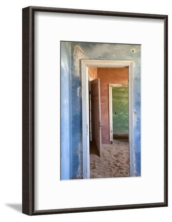Interior of Building Slowly Being Consumed by the Sands of the Namib Desert-Lee Frost-Framed Photographic Print