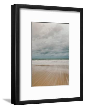 Tidal Motion on Carbis Bay Beach, St. Ives, Cornwall, England, United Kingdom, Europe-Mark Doherty-Framed Photographic Print