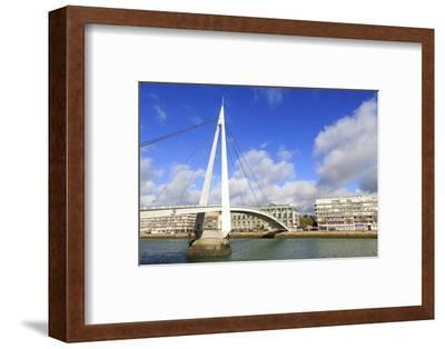 Pedestrian Bridge over the Commerce Basin, Le Havre, Normandy, France, Europe-Richard Cummins-Framed Photographic Print