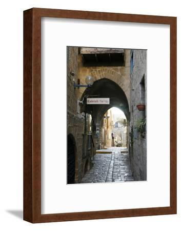 Alleys in the Old Jaffa, Tel Aviv, Israel, Middle East-Yadid Levy-Framed Photographic Print