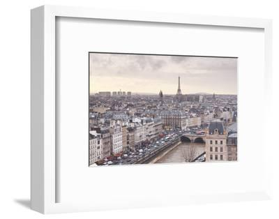 The City of Paris as Seen from Notre Dame Cathedral, Paris, France, Europe-Julian Elliott-Framed Photographic Print