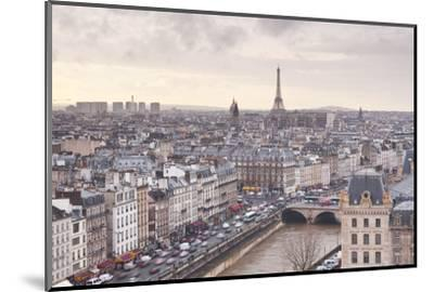 The City of Paris as Seen from Notre Dame Cathedral, Paris, France, Europe-Julian Elliott-Mounted Photographic Print