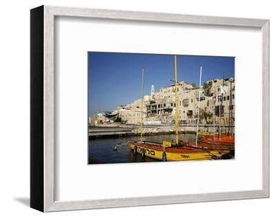 View over the Port and Old Jaffa, Tel Aviv, Israel, Middle East-Yadid Levy-Framed Photographic Print