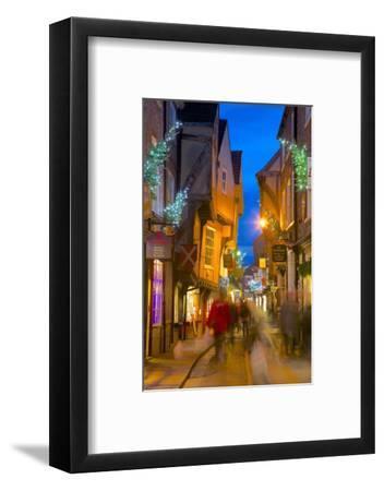 The Shambles at Christmas, York, Yorkshire, England, United Kingdom, Europe-Frank Fell-Framed Photographic Print