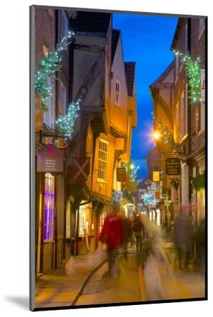 The Shambles at Christmas, York, Yorkshire, England, United Kingdom, Europe-Frank Fell-Mounted Photographic Print
