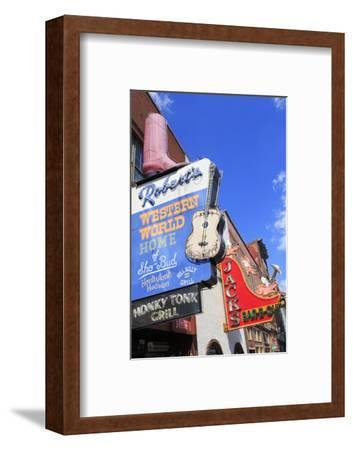 Signs on Broadway Street, Nashville, Tennessee, United States of America, North America-Richard Cummins-Framed Photographic Print