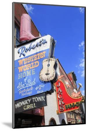 Signs on Broadway Street, Nashville, Tennessee, United States of America, North America-Richard Cummins-Mounted Photographic Print