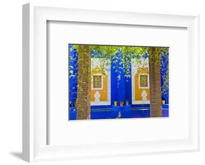 Majorelle Gardens (Gardens of Yves Saint-Laurent), Marrakech, Morocco, North Africa, Africa-Matthew Williams-Ellis-Framed Photographic Print