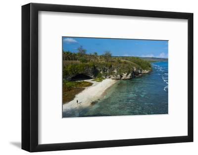 Ladder Beach, Saipan, Northern Marianas, Central Pacific, Pacific-Michael Runkel-Framed Photographic Print