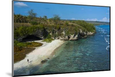 Ladder Beach, Saipan, Northern Marianas, Central Pacific, Pacific-Michael Runkel-Mounted Photographic Print