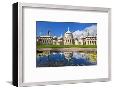 Brighton Royal Pavilion with Reflection, Brighton, East Sussex, England, United Kingdom, Europe-Neale Clark-Framed Photographic Print