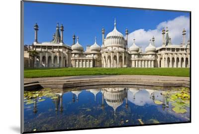 Brighton Royal Pavilion with Reflection, Brighton, East Sussex, England, United Kingdom, Europe-Neale Clark-Mounted Photographic Print