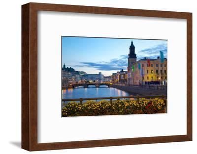 Town Hall and Canal at Dusk, Gothenburg, Sweden, Scandinavia, Europe-Frank Fell-Framed Photographic Print