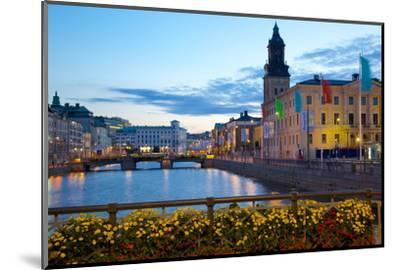Town Hall and Canal at Dusk, Gothenburg, Sweden, Scandinavia, Europe-Frank Fell-Mounted Photographic Print