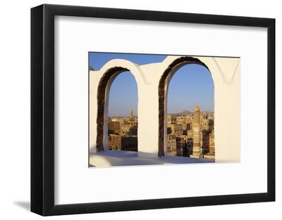 Old City of Sanaa, UNESCO World Heritage Site, Yemen, Middle East-Bruno Morandi-Framed Photographic Print