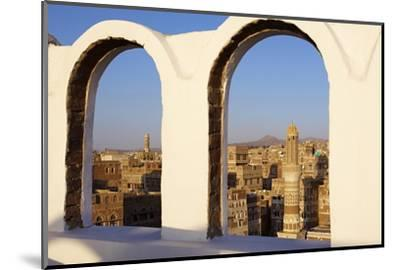 Old City of Sanaa, UNESCO World Heritage Site, Yemen, Middle East-Bruno Morandi-Mounted Photographic Print