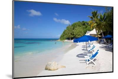 Beach and Sunshades, Long Bay, Antigua, Leeward Islands, West Indies, Caribbean, Central America-Frank Fell-Mounted Photographic Print