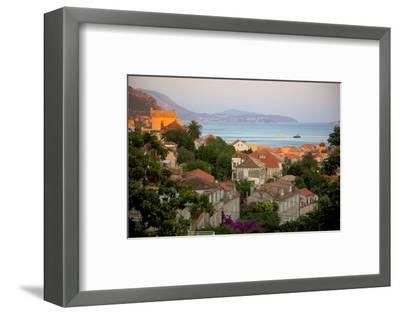 View over Old Town at Sunset, Dubrovnik, Dalmatia, Croatia, Europe-Frank Fell-Framed Photographic Print