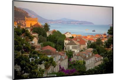 View over Old Town at Sunset, Dubrovnik, Dalmatia, Croatia, Europe-Frank Fell-Mounted Photographic Print