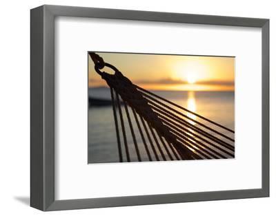 Hammock and Beach at Sunset-Frank Fell-Framed Photographic Print