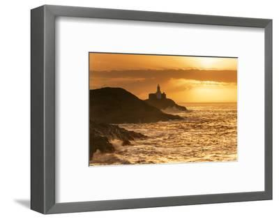 Mumbles Lighthouse, Bracelet Bay, Gower, Swansea, Wales, United Kingdom, Europe-Billy-Framed Photographic Print