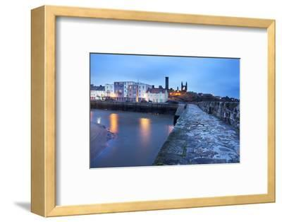 St. Andrews Harbour before Dawn, Fife, Scotland, United Kingdom, Europe-Mark-Framed Photographic Print