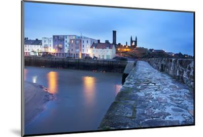 St. Andrews Harbour before Dawn, Fife, Scotland, United Kingdom, Europe-Mark-Mounted Photographic Print