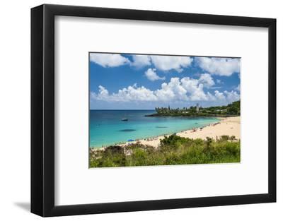 Waimea Bay, North Shore Oahu, Hawaii, United States of America, Pacific-Michael-Framed Photographic Print