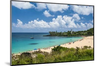 Waimea Bay, North Shore Oahu, Hawaii, United States of America, Pacific-Michael-Mounted Photographic Print