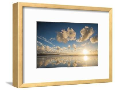 Cloud Reflections at Constantine Bay at Sunset, Cornwall, England, United Kingdom, Europe-Matthew-Framed Photographic Print