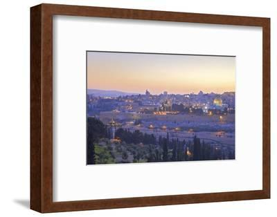 View of Jerusalem from the Mount of Olives, Jerusalem, Israel, Middle East-Neil Farrin-Framed Photographic Print