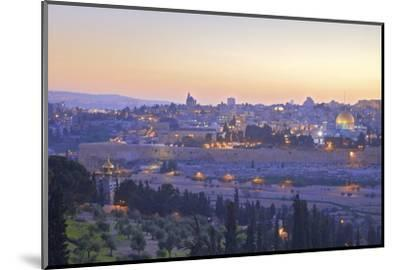 View of Jerusalem from the Mount of Olives, Jerusalem, Israel, Middle East-Neil Farrin-Mounted Photographic Print