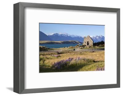 Church of the Good Shepherd, Lake Tekapo, Canterbury Region, South Island, New Zealand, Pacific-Stuart Black-Framed Photographic Print